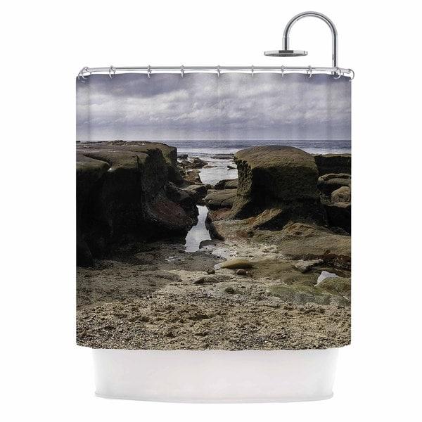 KESS InHouse Nick Nareshni Stones Leading To Ocean Brown Blue Shower Curtain (69x70)