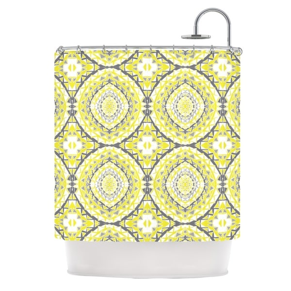 KESS InHouse Miranda Mol Yellow Tessellation Shower Curtain (69x70)
