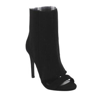 BONNIBEL FI95 Women's Stiletto Heel Stretchy Ankle Calf Bootie Sandals