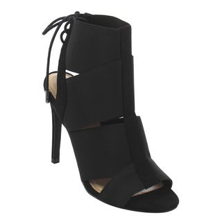 X2B FI87 Women's Stiletto Heel Lace Up Stretchy Strappy Sandals