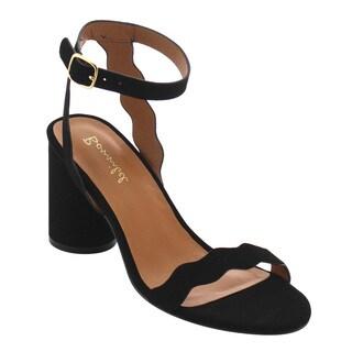 BONNIBEL FI88 Women's Classical Single Band Chunky Heel Dress Sandals