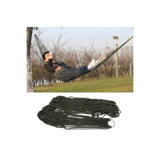 Portable Nylon Garden Outdoor Camping Travel Furniture Mesh Hammock swing Sleeping Bed Nylon Hang Me