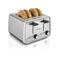Recertified Hamilton Beach R24781 Modern Chrome 4 Slice Toaster