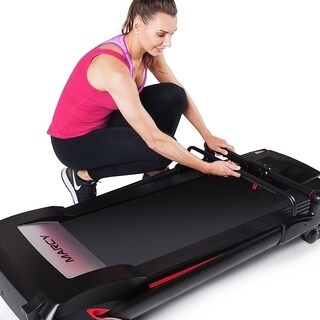 Marcy Easy Folding Motorized Treadmill / Pre Assembled Electric Running Machine