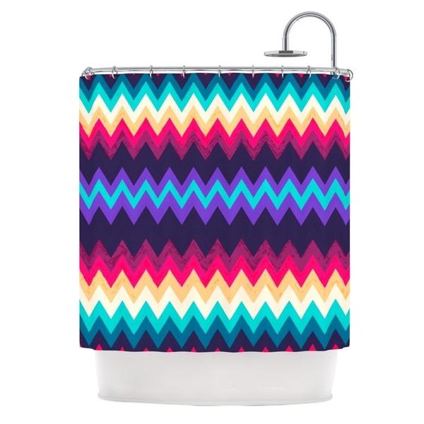 KESS InHouse Nika Martinez Surf Chevron Shower Curtain (69x70)