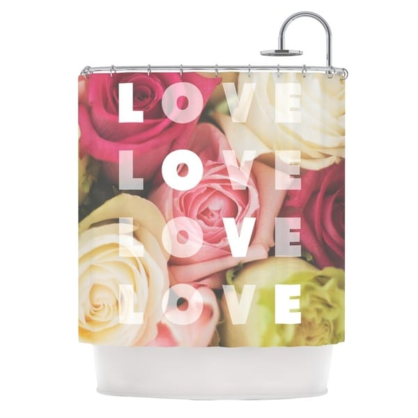 KESS InHouse Libertad Leal Love Love Love Roses Shower Curtain (69x70)