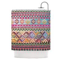 KESS InHouse Nika Martinez Tribal Native Red Pattern Shower Curtain (69x70)