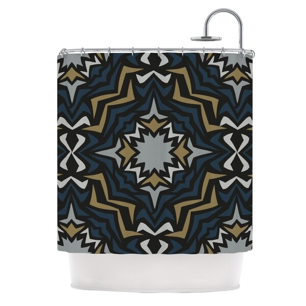 KESS InHouse Miranda Mol Winter Fractals Shower Curtain (69x70)