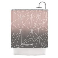 KESS InHouse Mareike Boehmer Simplicity 2X Brown Geometric Shower Curtain (69x70)