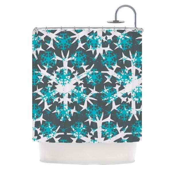 KESS InHouse Miranda Mol Tree Snow Flakes Shower Curtain (69x70)