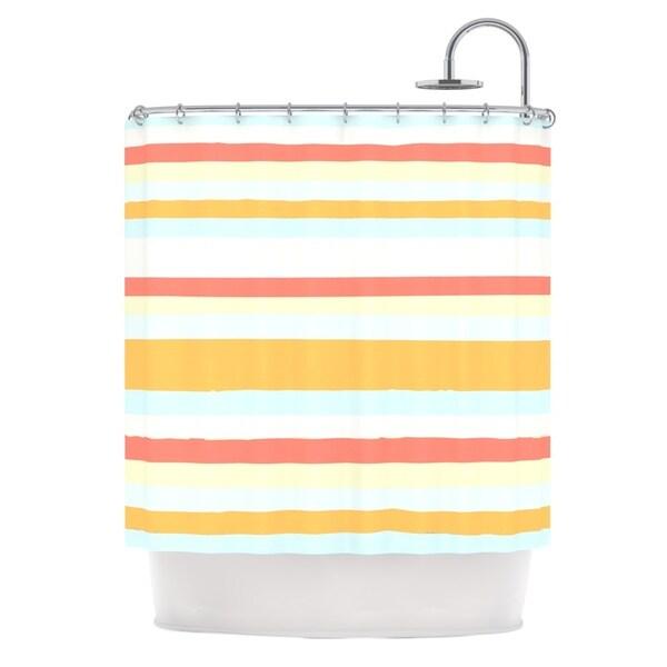 KESS InHouse Nika Martinez Sand Stripes Shower Curtain (69x70)
