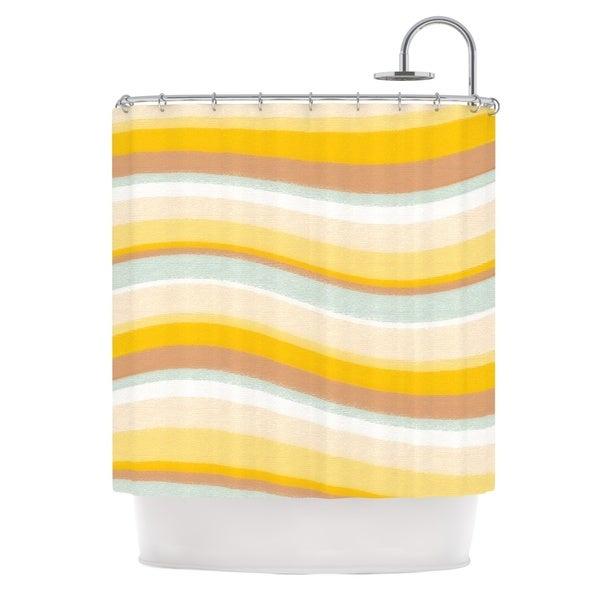 KESS InHouse Nika Martinez Desert Waves Shower Curtain (69x70)