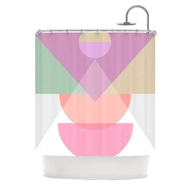 KESS InHouse Mareike Boehmer Pastel Play 3X Purple Pink Shower Curtain (69x70)