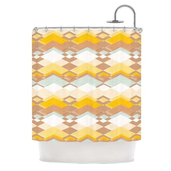 KESS InHouse Nika Martinez Retro Desert Shower Curtain (69x70)