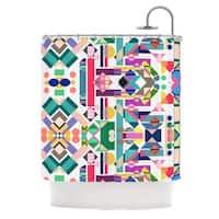 KESS InHouse Mareike Boehmer Geometry 2B Abstract Rainbow Shower Curtain (69x70) - 69 x 70