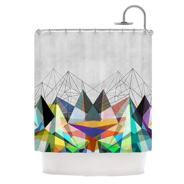 KESS InHouse Mareike Boehmer Colorflash 3X Grey Rainbow Shower Curtain (69x70)