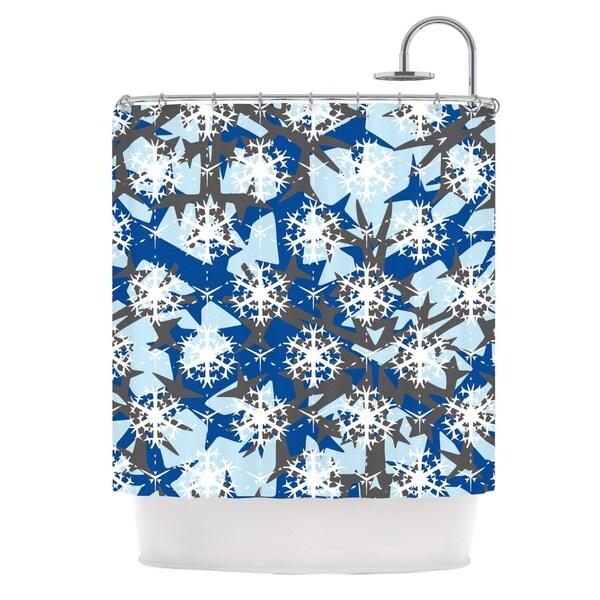 KESS InHouse Miranda Mol Ice Topography Shower Curtain (69x70)