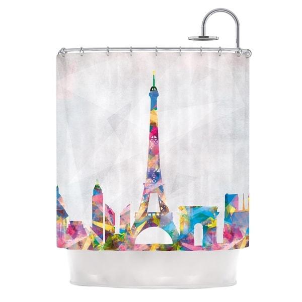 KESS InHouse Mareike Boehmer Paris City Rainbow Shower Curtain (69x70)