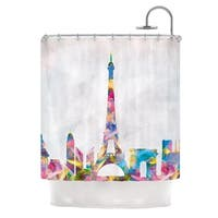 KESS InHouse Mareike Boehmer Paris City Rainbow Shower Curtain (69x70)