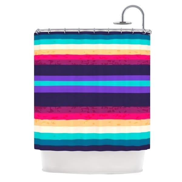 KESS InHouse Nika Martinez Surf Stripes Shower Curtain (69x70)