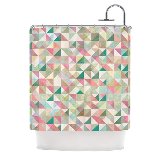 KESS InHouse Mareike Boehmer Graphic 75 Teal Pink Shower Curtain (69x70)