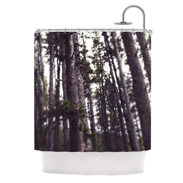 KESS InHouse Leah Flores Woods Forest Shower Curtain (69x70)