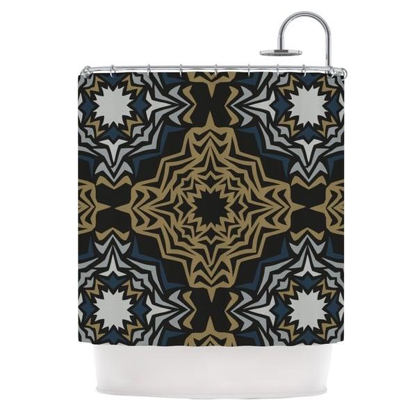KESS InHouse Miranda Mol Golden Fractals Shower Curtain (69x70)