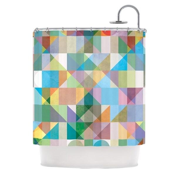 KESS InHouse Mareike Boehmer Graphic 74 Rainbow Abstract Shower Curtain (69x70) - 69 x 70