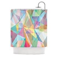 "KESS InHouse Mareike Boehmer ""Graphic 32"" Rainbow Abstract Shower Curtain (69x70) - 69 x 70"