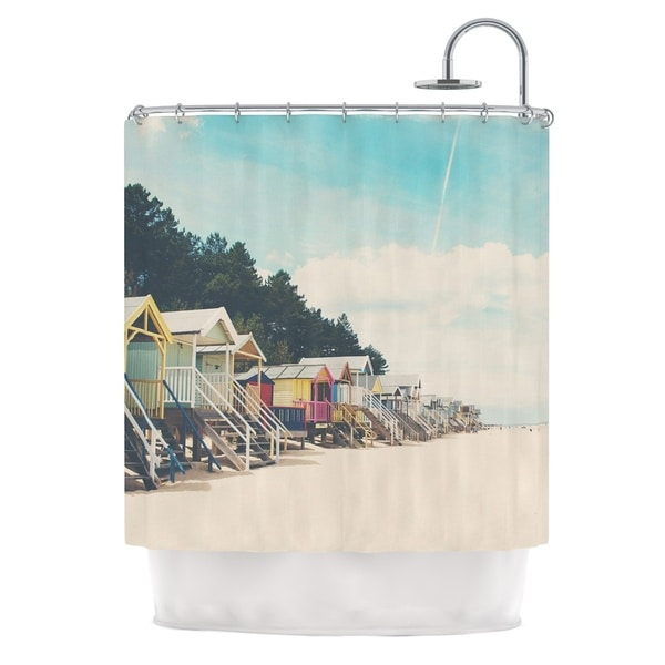 KESS InHouse Laura Evans Small Spaces Beach Coastal Shower Curtain (69x70)