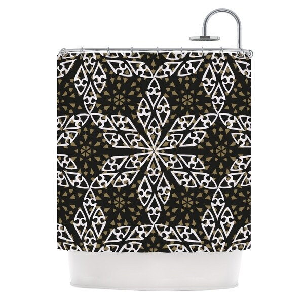 KESS InHouse Miranda Mol Ethnical Snowflakes Shower Curtain (69x70)