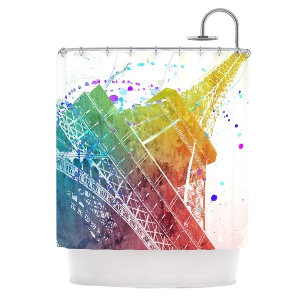 KESS InHouse Nika Martinez Paris Je T'aime Watercolor Shower Curtain (69x70)
