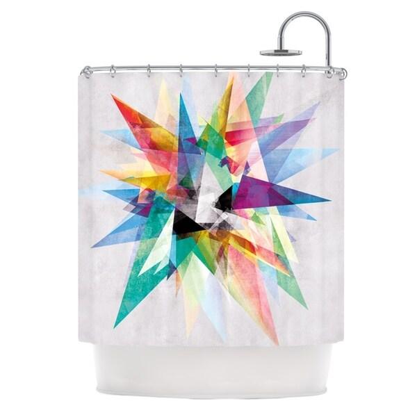 KESS InHouse Mareike Boehmer Colorful Rainbow Abstract Shower Curtain (69x70)
