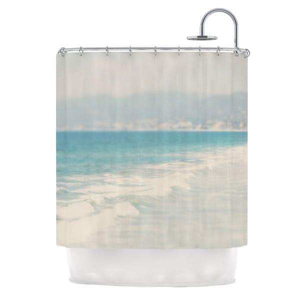 KESS InHouse Laura Evans Waves Blue Gray Shower Curtain (69x70)