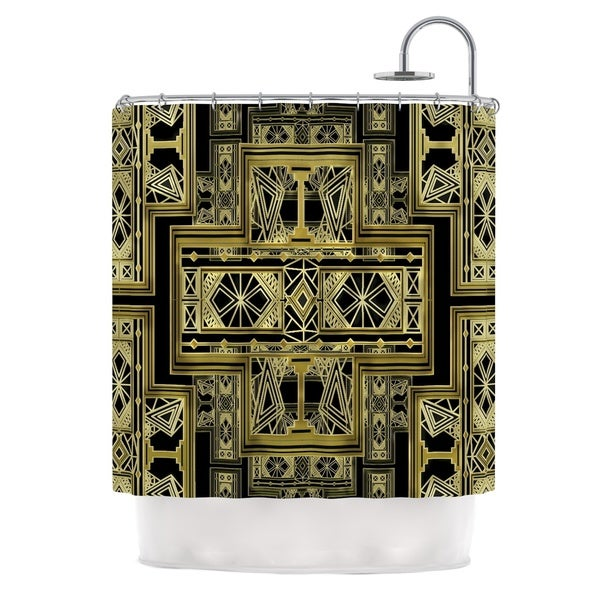 KESS InHouse Nika Martinez Golden Art Deco Shower Curtain (69x70)