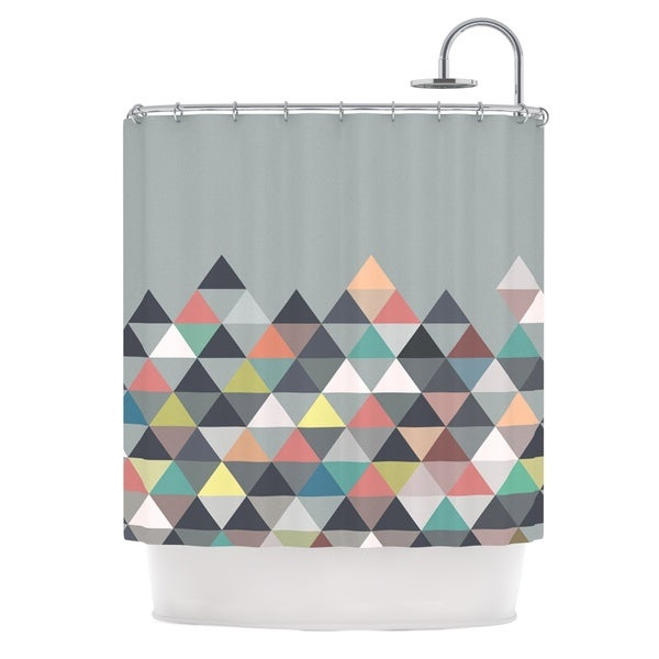 KESS InHouse Mareike Boehmer Nordic Combination Gray Abstract Shower Curtain (69x70)