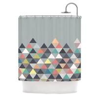 KESS InHouse Mareike Boehmer Nordic Combination Gray Abstract Shower Curtain (69x70) - 69 x 70