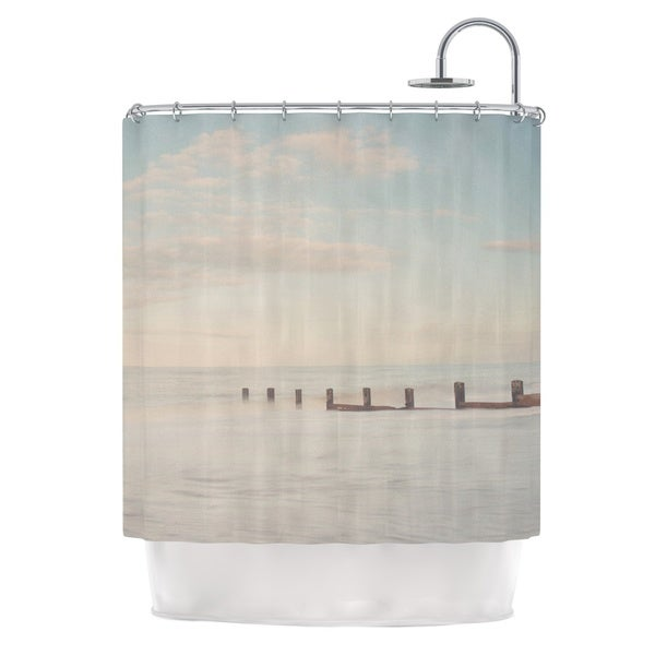 KESS InHouse Laura Evans The Rising Tide Brown Gray Shower Curtain (69x70)