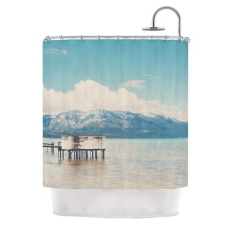 KESS InHouse Laura Evans Down By The Lake Blue Brown Shower Curtain (69x70)