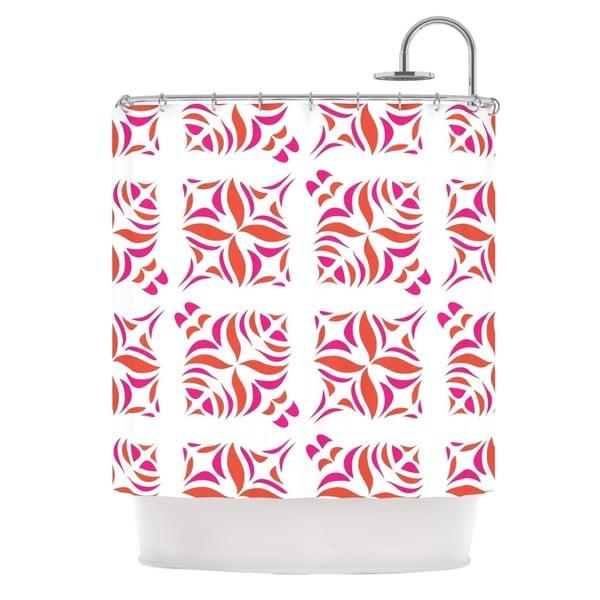 KESS InHouse Miranda Mol Orange Oasis Shower Curtain (69x70)