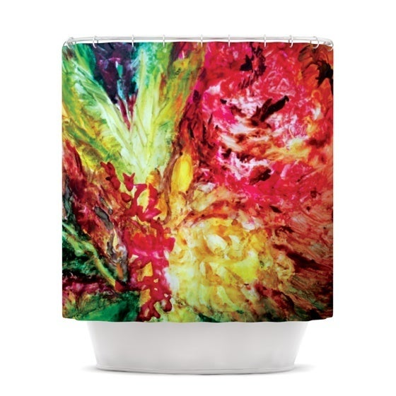 KESS InHouse Mary Bateman Passion Flowers I Shower Curtain (69x70)