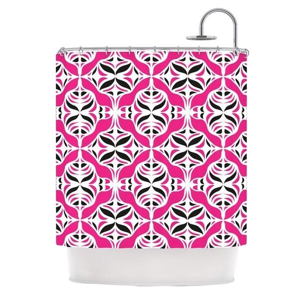KESS InHouse Miranda Mol Think Pink Shower Curtain (69x70)