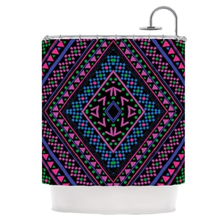 KESS InHouse Nika Martinez Neon Pattern Shower Curtain (69x70)