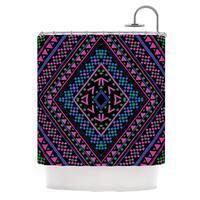 KESS InHouse Nika Martinez Neon Pattern Shower Curtain (69x70)