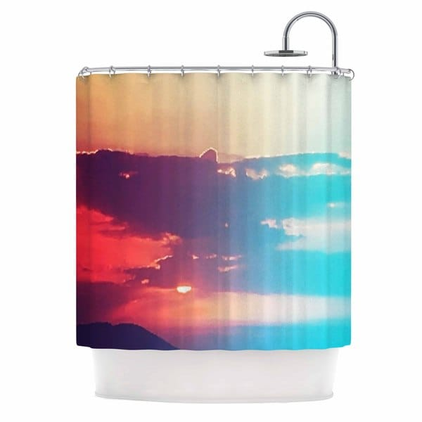KESS InHouse Li Zamperini Summer Orange Teal Shower Curtain (69x70)