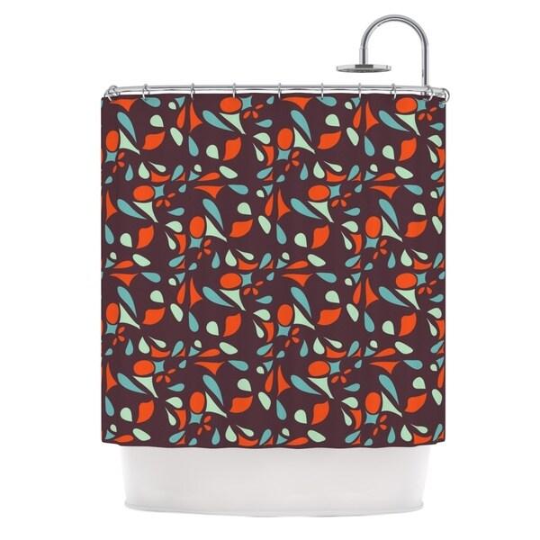 KESS InHouse Miranda Mol Retro Tile Shower Curtain (69x70)