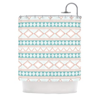 KESS InHouse Nika Martinez Yerbabuena Aqua Pink Shower Curtain (69x70)