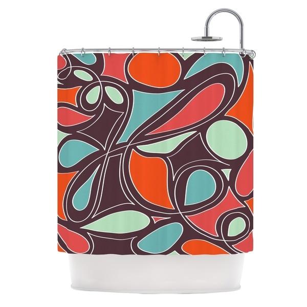 KESS InHouse Miranda Mol Retro Swirl Shower Curtain (69x70)