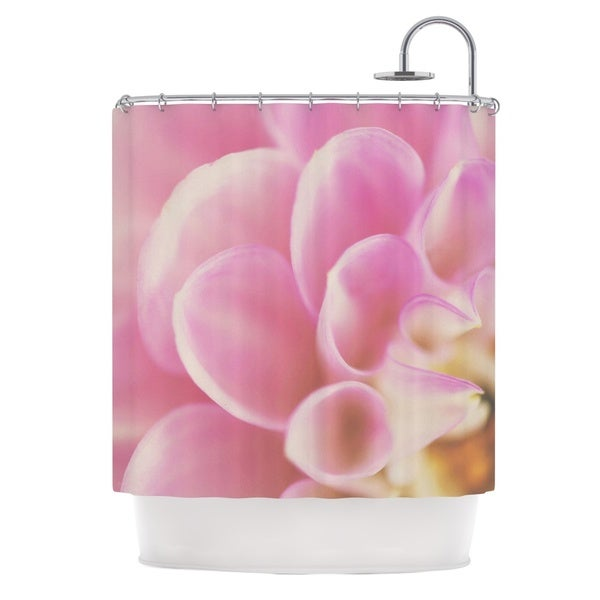 KESS InHouse Laura Evans Up Close & Personal Pink Floral Shower Curtain (69x70)
