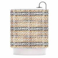 KESS InHouse Li Zamperini Africa Brown Tribal Shower Curtain (69x70)